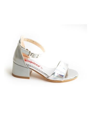 minipicco Kız Cocuk Özel Tam Çocuk Abiye Ayakkabı Gümüş